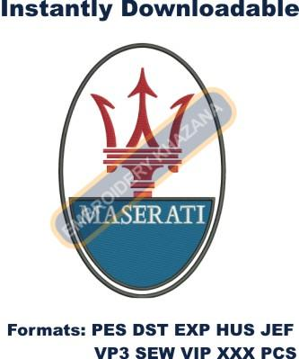 Maserati car logo embroidery design