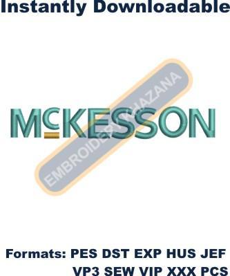 McKesson Corporation Logo Embroidery Designs