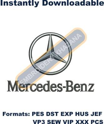 Mercedes Benz Embroidery design