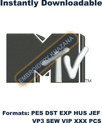 MTV Logo Embroidery Designs