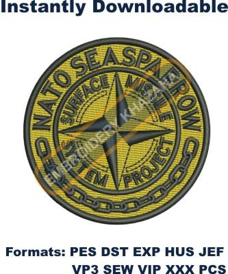 NATO SEASPARROW Logo Embroidery Designs