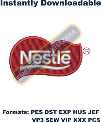 Nestle Logo Embroidery Designs