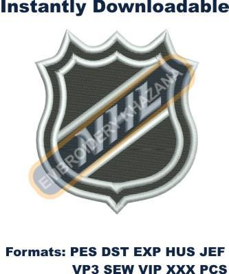 National Hockey League logo Embroidery Designs