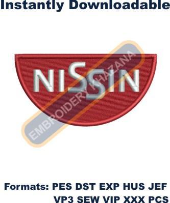 Nissin Logo Embroidery Design