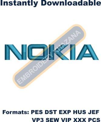 Nokia Logo Embroidery Designs