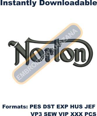 Norton Logo Embroidery Designs