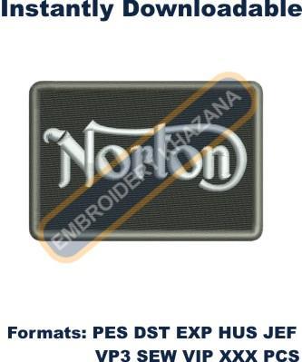 Norton Motors Logo Embroidery Designs