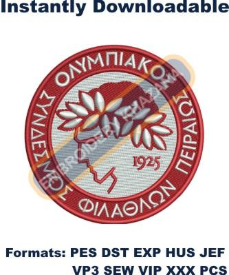 Olympiacos FC Logo Embroidery Designs