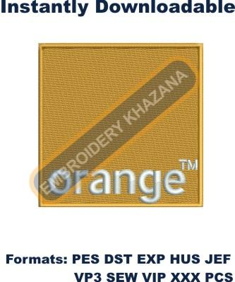 Orange Logo embroidery design