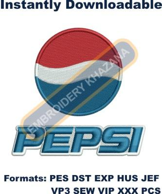 Pepsi Logo Embroidery Designs