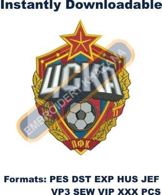 PFC CSKA Moscow Logo Embroidery Designs
