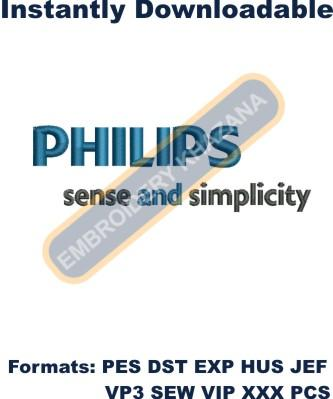 Philips Logo Embroidery Designs