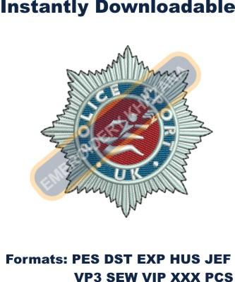 Police Sport Uk Logo Embroidery Designs
