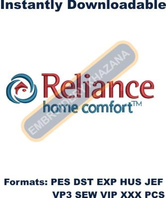 Reliance Home Comfort Logo Embroidery Designs