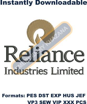 Reliance Industries Limited Logo Embroidery Designs