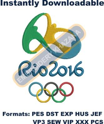 Rio Olympic 2016 Logo Embroidery Designs