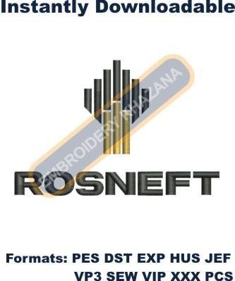 Rosneft Logo Embroidery Designs