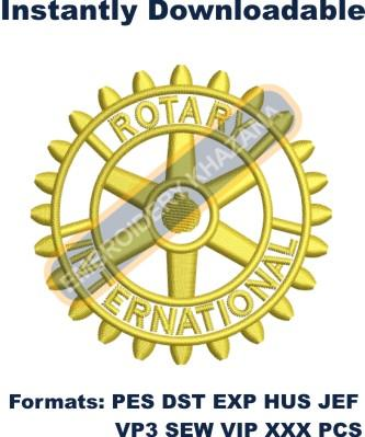 Rotary Logo Embroidery Designs