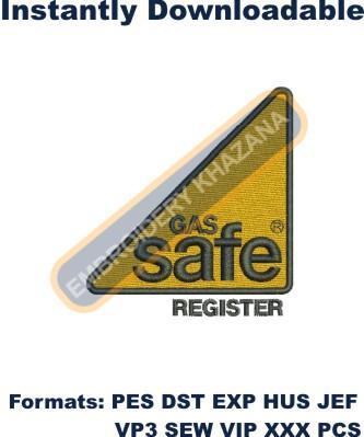 Gas Safe Logo Embroidery Designs