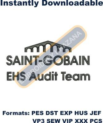 Saint Gobain logo embroidery design