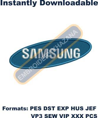 Samsung Logo Embroidery Designs