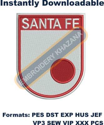 Independiente Santa Fe Logo Embroidery Designs