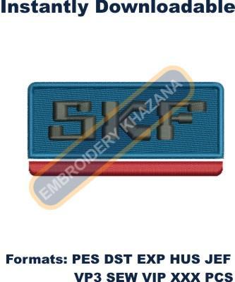 SKF Brand Logo Embroidery Designs