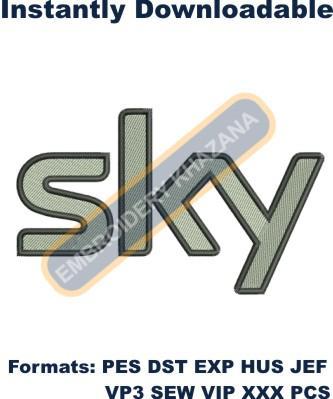 Sky Logo Embroidery Designs