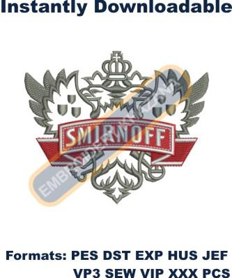 Smirnoff Vodka Logo Embroidery Designs