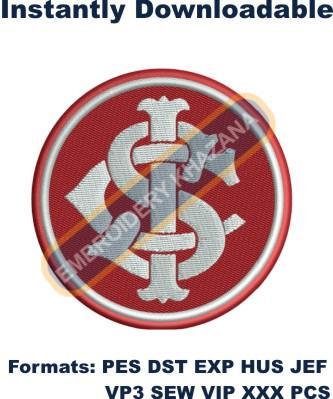 Sport Club Internacional Logo Embroidery Designs