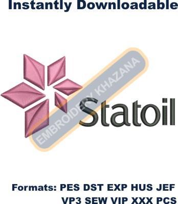 Statoil Logo Embroidery Designs