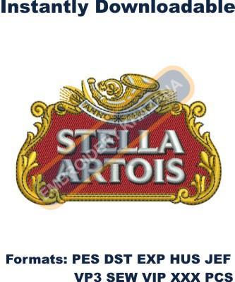 Stella Artois Logo Embroidery Designs