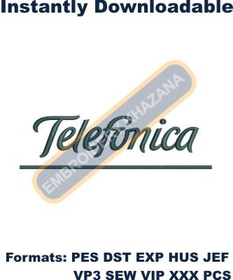 Telefonica Logo Embroidery Designs