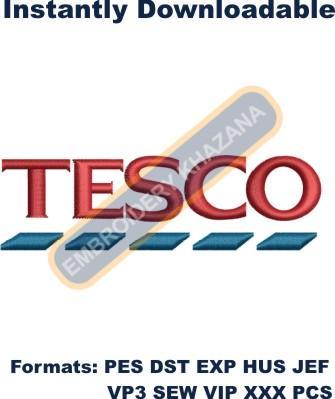 Tesco Logo Embroidery Designs
