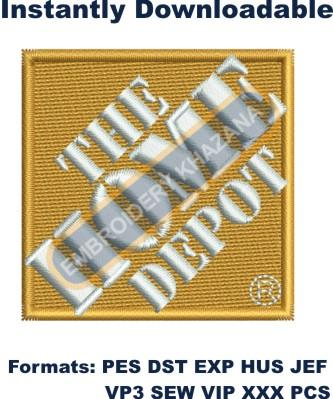 The Home Depot Logo Embroidery Designs