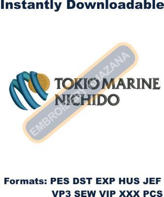 Tokio Marine Nichido Logo Embroidery Designs