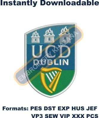 Ucd Dublin Crest Embroidery Designs