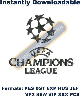 Champions League Logo Embroidery Designs