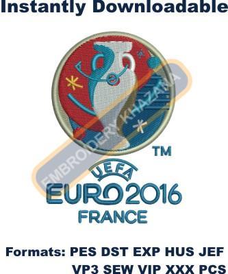 UEFA Euro 2016 Logo Embroidery Designs
