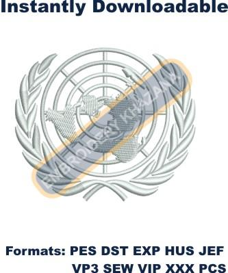United Nations Logo Embroidery Designs