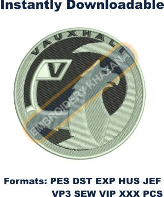 Vauxhall car logo embroidery design