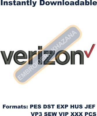 Verizon Logo Embroidery Designs