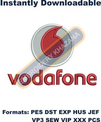 Vodafone Logo Embroidery Designs
