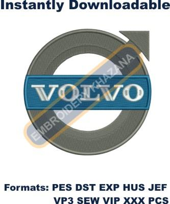 Volvo car logo large size embroidery design