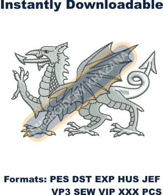 Wales Dragon Embroidery Designs