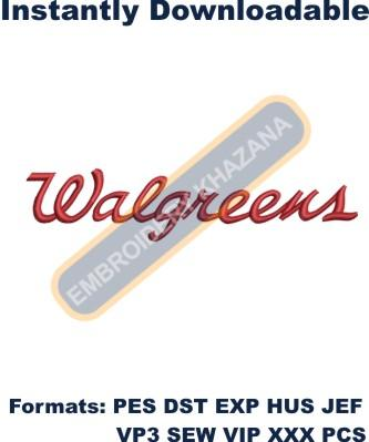 Walgreens Logo Embroidery Designs