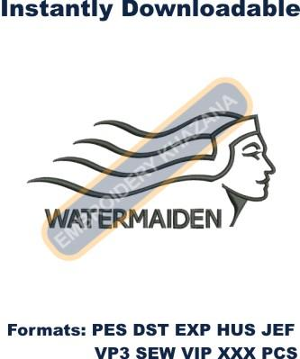 Watermaiden logo embroidery design