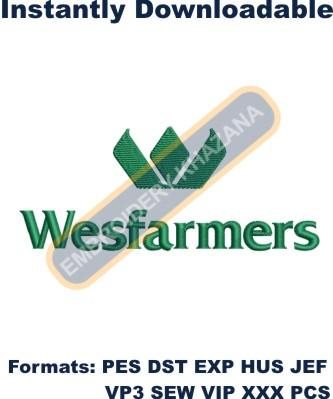 Wesfarmers Logo Embroidery Designs
