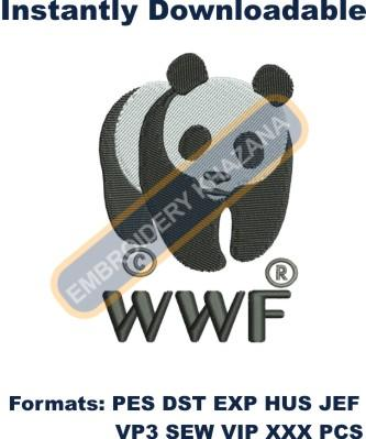 World Wide Fund Logo Embroidery Designs