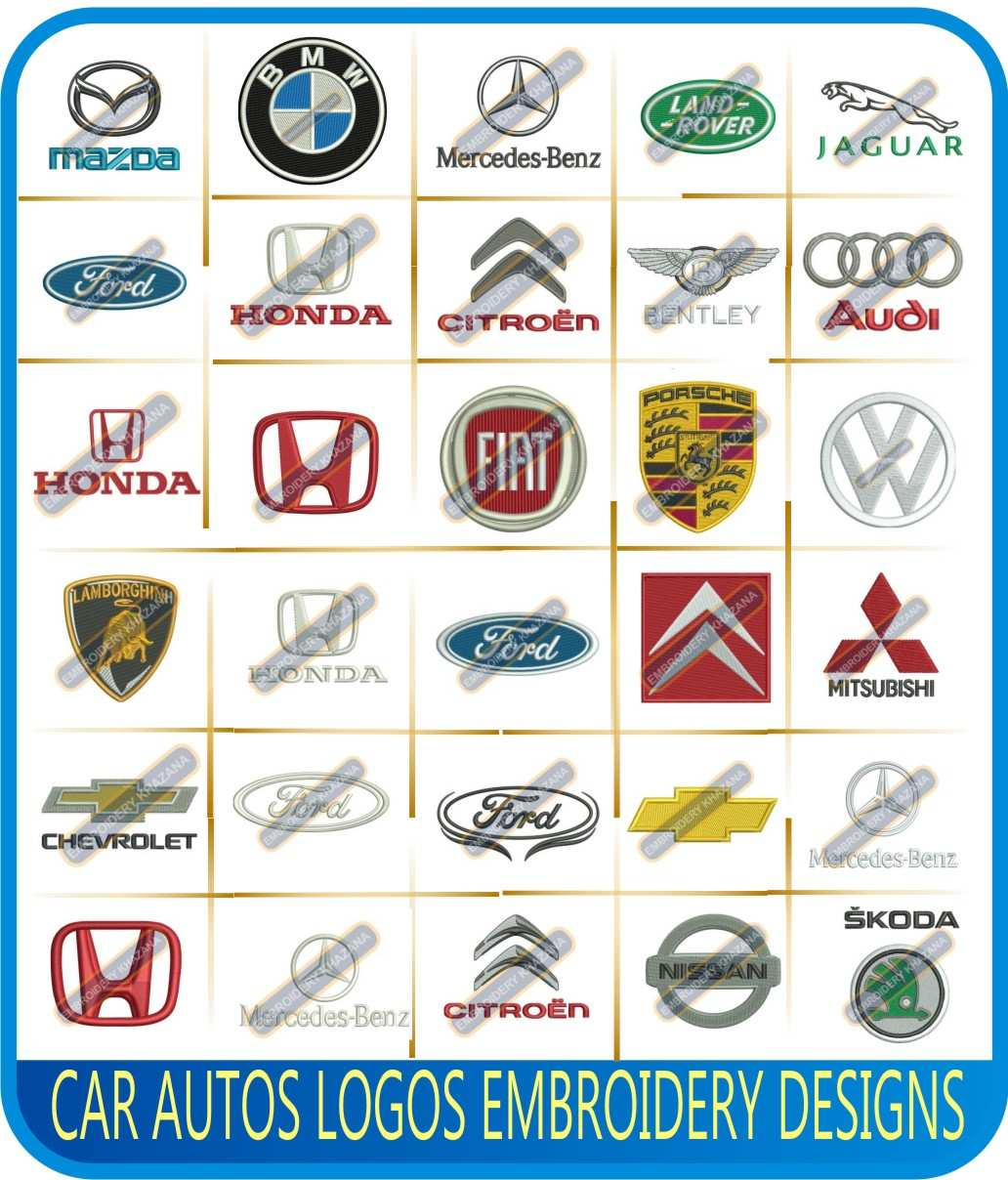 Car Auto Logos Embroidery Designs